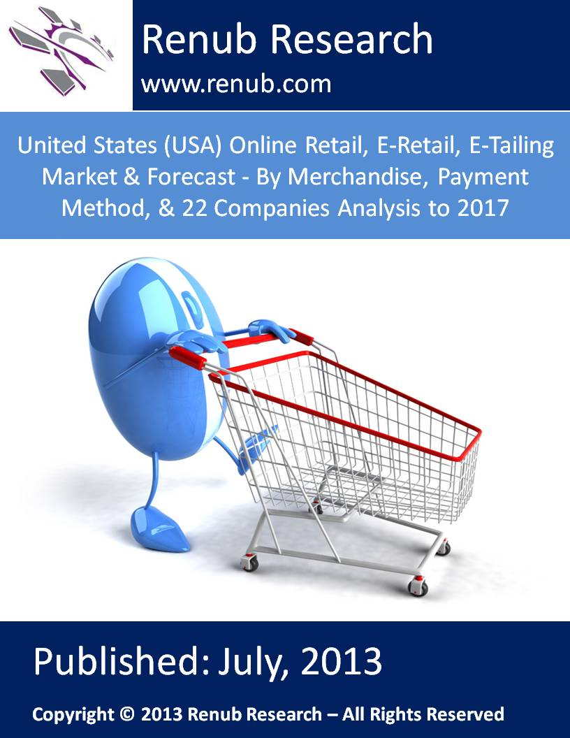 United States (USA) Online Retail, E-Retail, E-Tailing Market & Forecast - By Merchandise, Payment Method, & 22 Companies Analysis to 2017