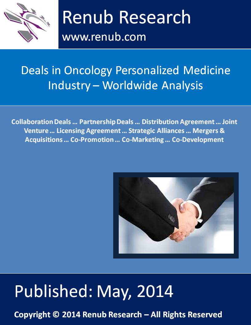 Deals in Oncology Personalized Medicine Industry - Worldwide Analysis