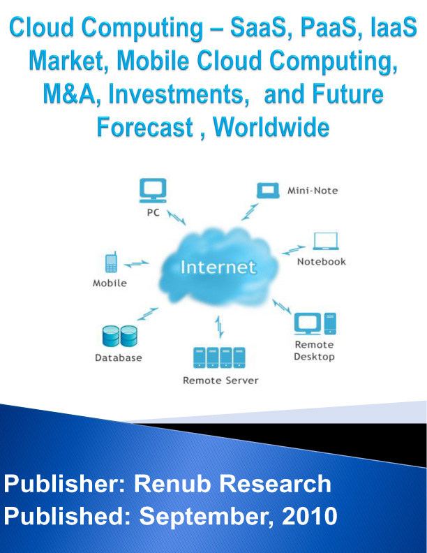 Cloud Computing - SaaS, PaaS, IaaS Market, Mobile Cloud Computing, M&A, Investments, and Future Forecast, Worldwide