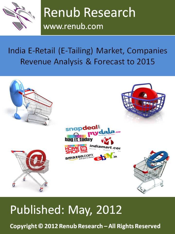India E-Retail (E-Tailing) Market, Companies Revenue Analysis & Forecast to 2015