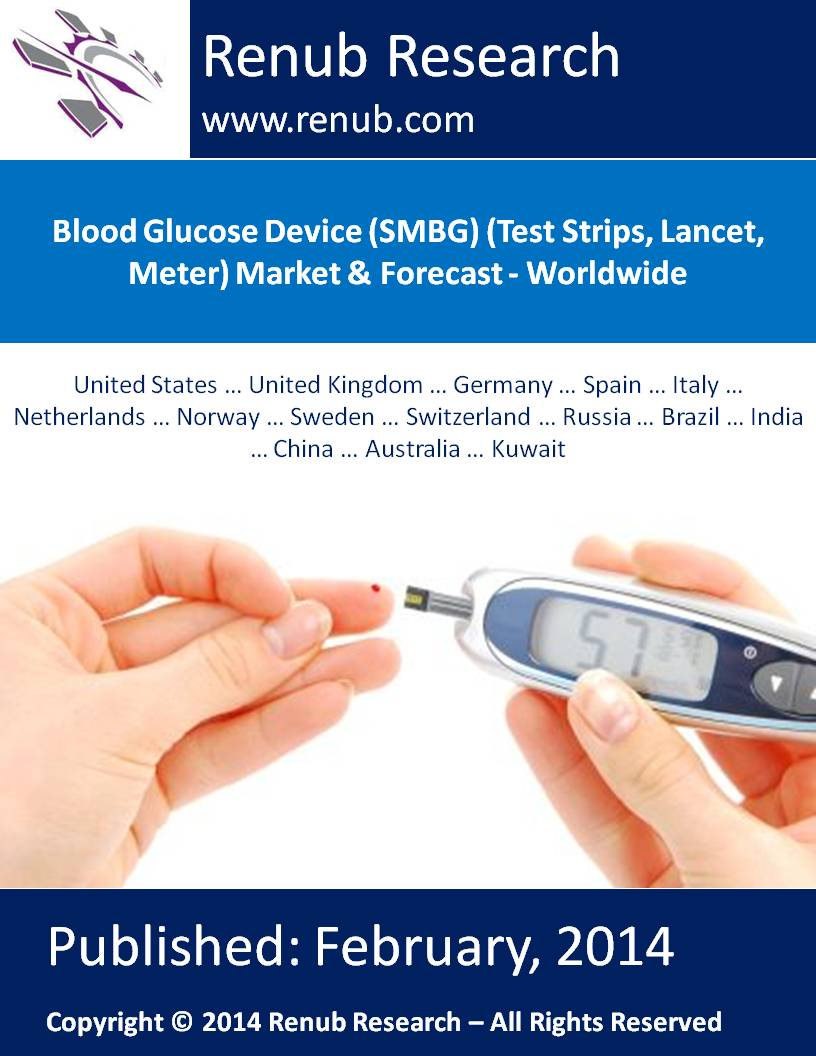 Blood Glucose Device (SMBG) (Test Strips, Lancet, Meter) Market & Forecast