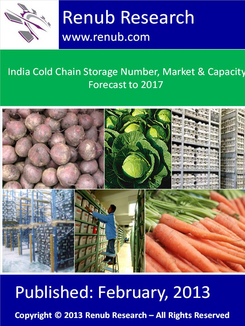 India Cold Chain Storage Number, Market & Capacity Forecast to 2017