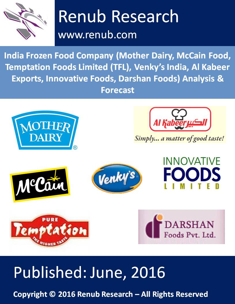 India Frozen Food Company (Mother Dairy, McCain Food, Temptation Foods Limited (TFL), Venky's India, Al Kabeer Exports, Innovative Foods, Darshan Foods) Analysis & Forecast