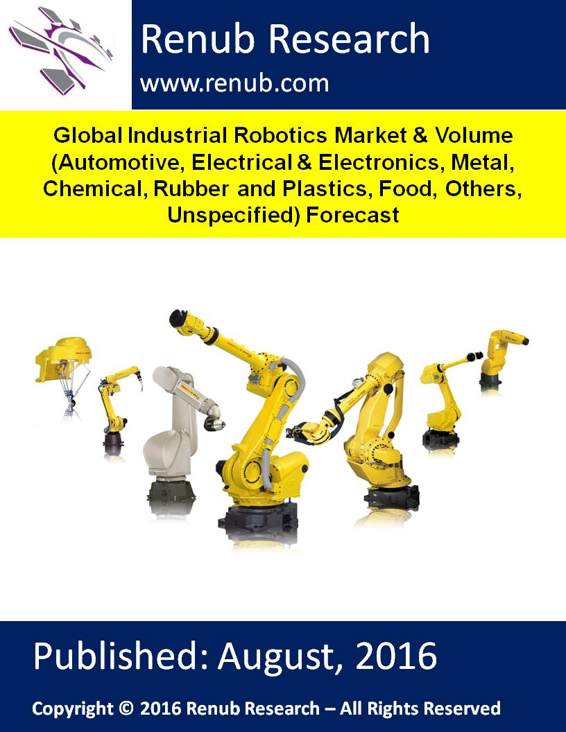 Global Industrial Robotics Market & Volume (Automotive, Electrical & Electronics, Metal, Chemical, Rubber and Plastics, Food, Others, Unspecified) Forecast