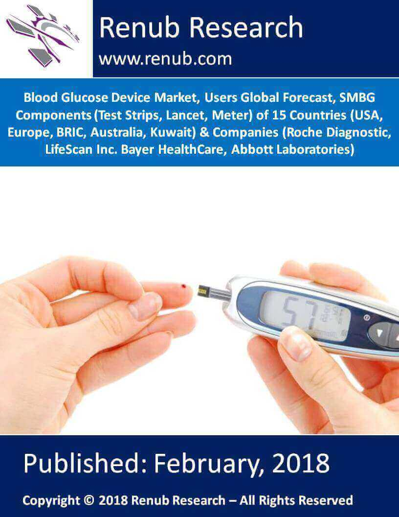Blood Glucose Device Market, Users Global Forecast, SMBG (Test Strips, Lancet, Meter), Countries (USA, Europe, etc) & Companies